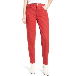 NWT Rag & Bone Red High Waist Straight Leg Jeans